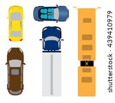 a set of five cars. coupe ... | Shutterstock .eps vector #439410979