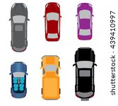 set of six vehicles. coupe ... | Shutterstock .eps vector #439410997