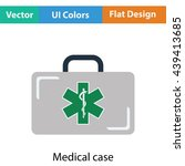 medical case icon. flat color...
