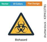 biohazard icon. flat color...