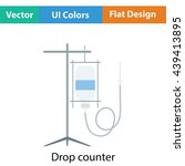 drop counter icon. flat color...