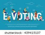 e voting concept illustration... | Shutterstock .eps vector #439415137