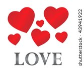 steel love caption with six red ...   Shutterstock .eps vector #43941922
