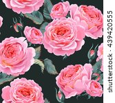english roses seamless | Shutterstock .eps vector #439420555