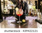 expert barman is making... | Shutterstock . vector #439422121
