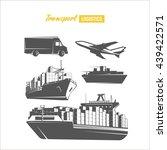 transport logistics design...   Shutterstock .eps vector #439422571