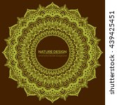 vector nature decor for your... | Shutterstock .eps vector #439425451
