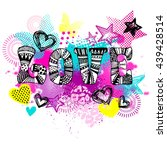 abstract drawing for t shirts....   Shutterstock .eps vector #439428514