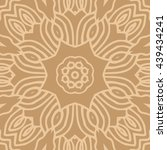 mandala seamless pattern....   Shutterstock .eps vector #439434241
