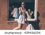 beautiful shopaholic. beautiful ... | Shutterstock . vector #439436254