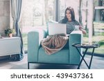enjoying time at home.... | Shutterstock . vector #439437361