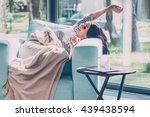 enjoying beautiful morning.... | Shutterstock . vector #439438594