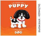 vintage puppy poster design... | Shutterstock .eps vector #439441741