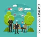 public free wi fi hotspot zone... | Shutterstock .eps vector #439443511