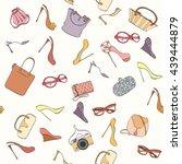 seamless women fashion pattern...   Shutterstock .eps vector #439444879