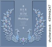 wedding invitation or card with ... | Shutterstock .eps vector #439446247
