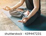 sportive man's body wearing... | Shutterstock . vector #439447231