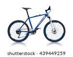 blue color bicycle   Shutterstock .eps vector #439449259