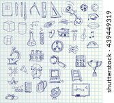 hand draw icons | Shutterstock .eps vector #439449319