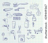 hand draw icons | Shutterstock .eps vector #439449367