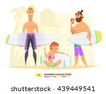 summer characters. surfing style | Shutterstock .eps vector #439449541
