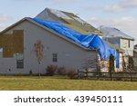 tornado storm damage  ... | Shutterstock . vector #439450111