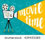 movie time concept.creative... | Shutterstock .eps vector #439455385