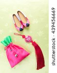 korean pink silk shoes and... | Shutterstock . vector #439456669