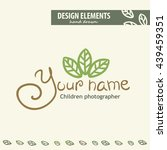 unique hand drawn logo template ... | Shutterstock .eps vector #439459351