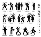 negative personalities... | Shutterstock . vector #439461151