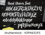 calligraphic vector script font.... | Shutterstock .eps vector #439463191