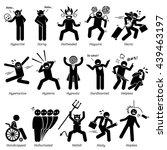 negative personalities... | Shutterstock .eps vector #439463197