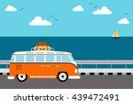 summer travel concept  vacation ... | Shutterstock .eps vector #439472491