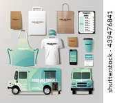vector food truck corporate... | Shutterstock .eps vector #439476841
