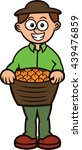 fruit seller carrying full... | Shutterstock .eps vector #439476859