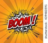 comic speech bubble  cartoon | Shutterstock .eps vector #439483591