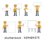 set of taxi driver characters... | Shutterstock .eps vector #439489375