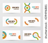 modern business card set | Shutterstock .eps vector #439496881