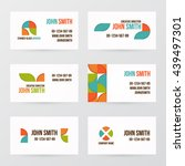 modern business card set | Shutterstock .eps vector #439497301