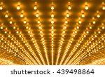 golden bulbs marquee lights... | Shutterstock . vector #439498864