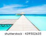 beautiful tropical maldives... | Shutterstock . vector #439502635