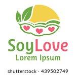 vegan soy food logo flat design   Shutterstock .eps vector #439502749