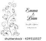 wedding invitation card... | Shutterstock .eps vector #439510537