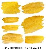 golden texture gouache stains... | Shutterstock . vector #439511755