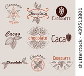 collection of cacao and... | Shutterstock .eps vector #439513801