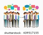 flat vector group people ... | Shutterstock .eps vector #439517155