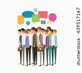 flat vector group business... | Shutterstock .eps vector #439517167