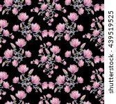 seamless floral pattern with... | Shutterstock . vector #439519525