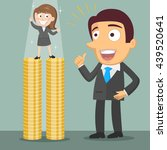 small businesswoman standing on ... | Shutterstock .eps vector #439520641