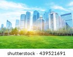 cityscape under blue sky... | Shutterstock . vector #439521691